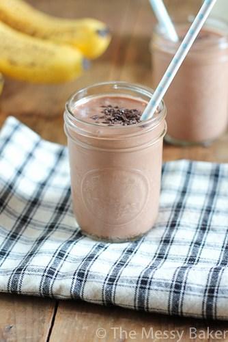 Chocolate + banana + cake batter= The best shake EVER!