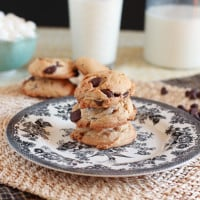 Brown Butter Marshmallow Chocolate Chip Cookies {www.themessybakerblog.com}-4537