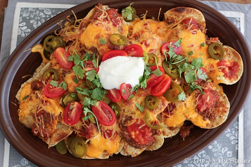Loaded Nachos with Homemade Chili Sauce