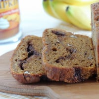Pumpkin Banana Bread | www.themessybakerblog.com-4603