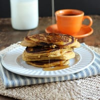 Orange Pumpkin Pancakes {www.themessybakerblog.com}-4680
