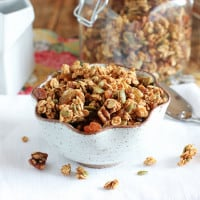 Pumpkin & Apple Butter Granola {www.themessybakerblog.com}-4929