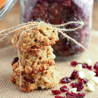 Cranberry White Chocolate Chip Oat Cookies {www.themessybakerblog.com}-5204
