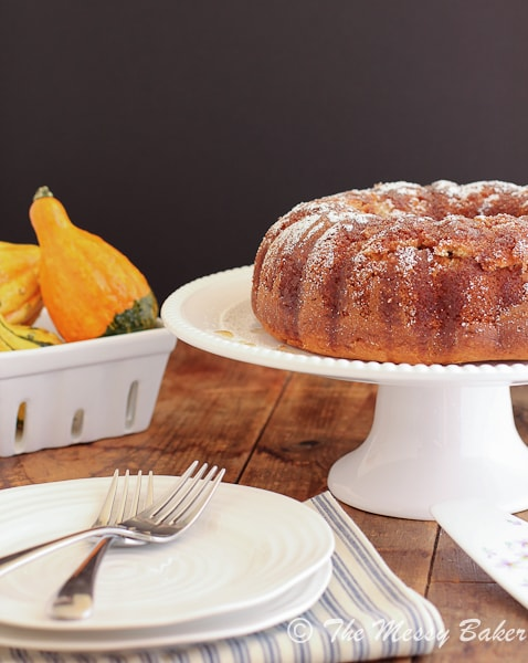Maple Pecan Bundt Cake - One Sweet Mess