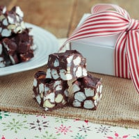 Rocky Road Fudge {www.themessybakerblog.com}-5486