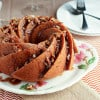 Sweet Potato Bourbon Bundt Cake {www.themessybakerblog.com}