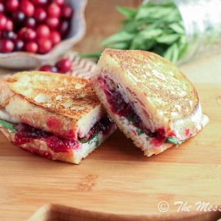 Turkey & Cranberry Panini w- Tarragon Goat Cheese Aioli {www.themessybakerblog.com}-5430