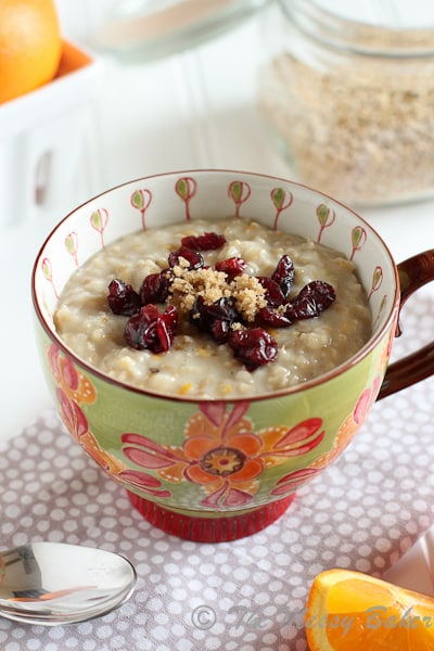 Orange Scented Steel Cut Oats | www.themessybakerblog.com