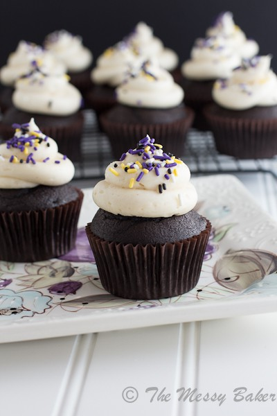 Bailey's Irish Cream Cupcakes {www.themessybakerblog.com}-6311