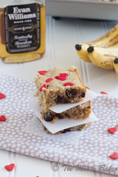 Chocolate Chip Banana Bourbon Blondies {www.themessybakerblog.com}-6340