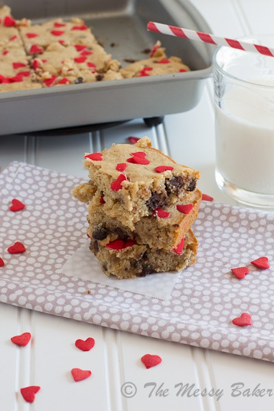 Chocolate Chip Brown Butter Banana Bourbon Blondies {www.themessybakerblog.com}-6352