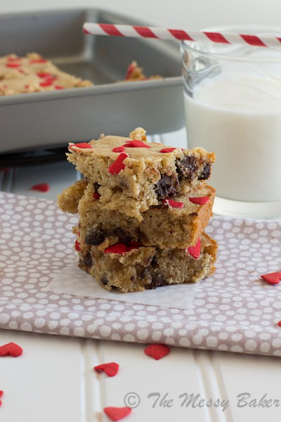Chocolate Chip Brown Butter Banana Bourbon Blondies {www.themessybakerblog.com}-6353