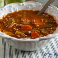 Ground Turkey & Veggie Soup {www.themessybakerblog.com}-6477