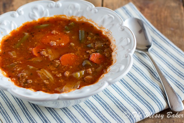 Ground Turkey & Veggie Soup {www.themessybakerblog.com}-6482