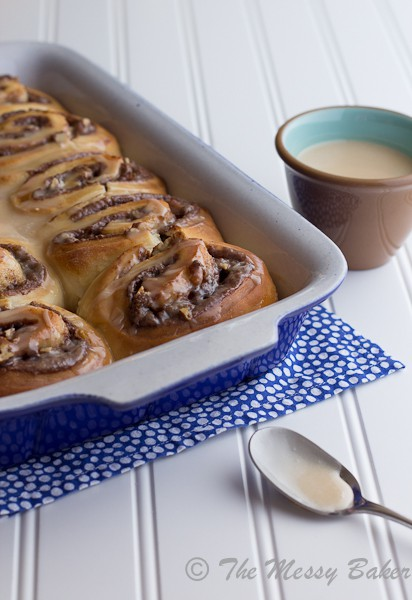 Nutella & Toasted Pecan Sweet Rolls | www.themessybakerblog.com-6509