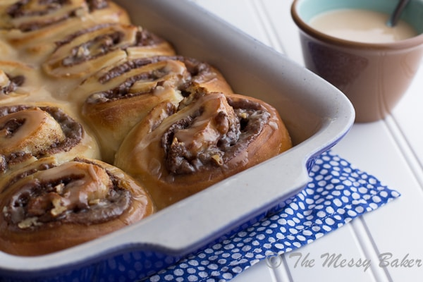 Nutella & Toasted Pecan Sweet Rolls | www.themessybakerblog.com-6511