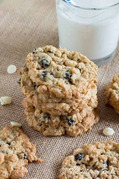 Blueberries & Cream Oatmeal Cookies | www.themessybakerblog.com-6594