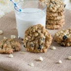 Blueberries & Cream Oatmeal Cookies | www.themessybakerblog.com-6600