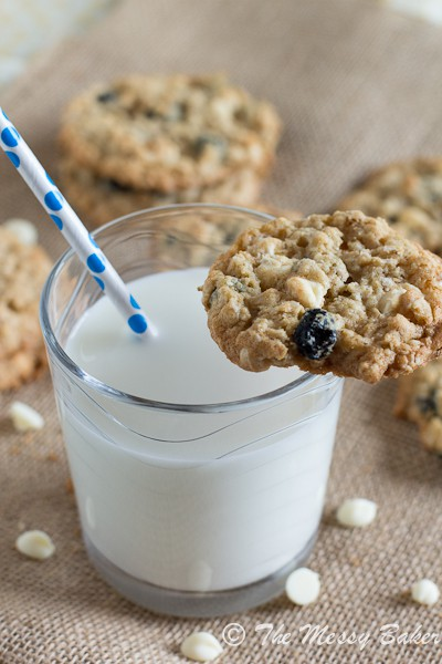Blueberries & Cream Oatmeal Cookies | www.themessybakerblog.com-6610