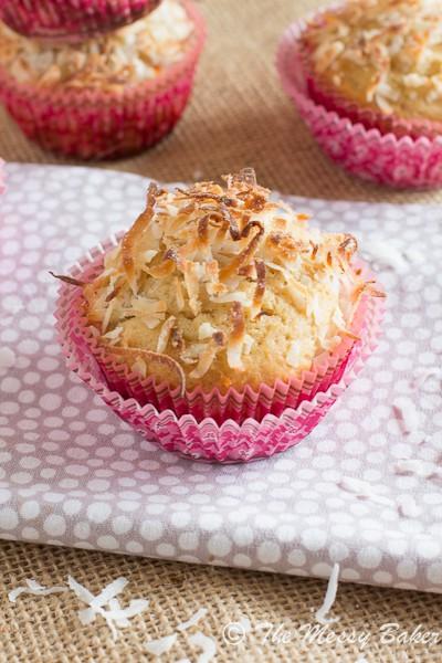 Pina Colada Muffins | www.themessybakerblog.com-6580