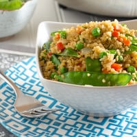 Veggie Loaded Fried Quinoa | www.themessybakerblog.com-6787