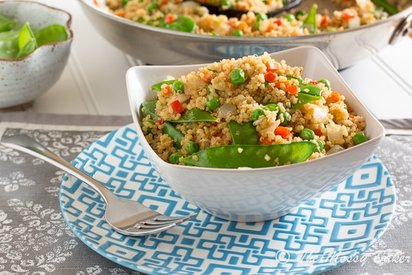 Veggie Loaded Fried Quinoa | www.themessybakerblog.com-6793