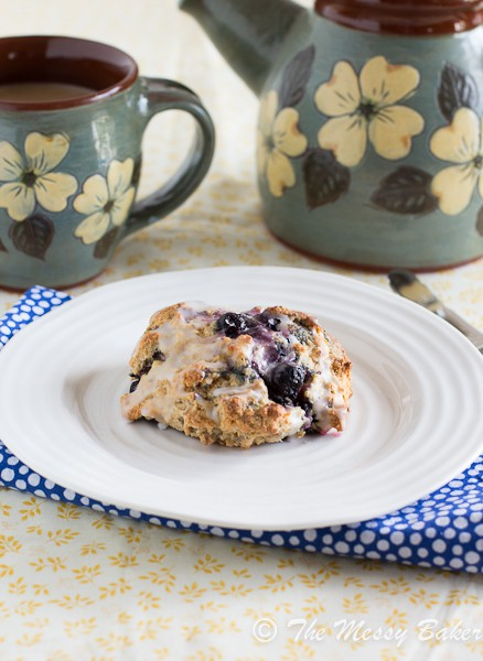 Blueberry Lemon Scones | www.themessybakerblog.com -6965