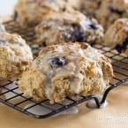Blueberry Lemon Scones | www.themessybakerblog.com -6975