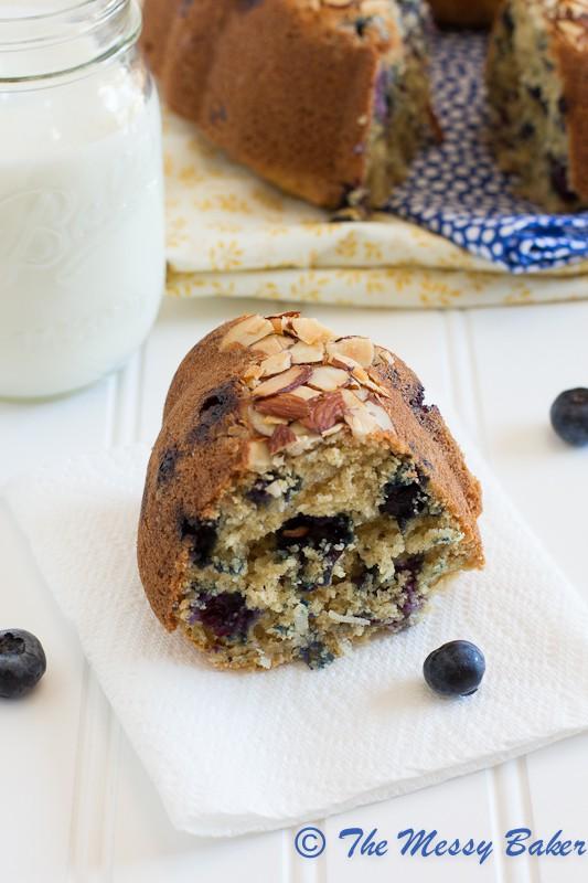 Blueberry Coconut Bundt | www.themessybakerblog.com-7151