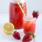 Strawberry Basil Lemonade | www.themessybakerblog.com -7370