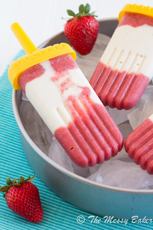 Strawberry Pineapple Cheesecake Popsicles | www.themessybakerblog.com-7394