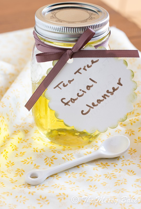 Homemade Tea Tree Oil Facial Cleanser | www.themessybakerblog.com -7720