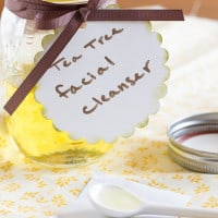 Homemade Tea Tree Oil Facial Cleanser | www.themessybakerblog.com -7725