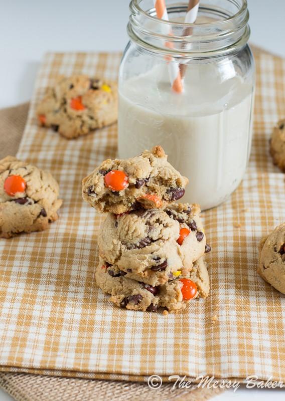 Soft Baked Triple Peanut Butter Cookies   www.themessybakerblog.com -7755