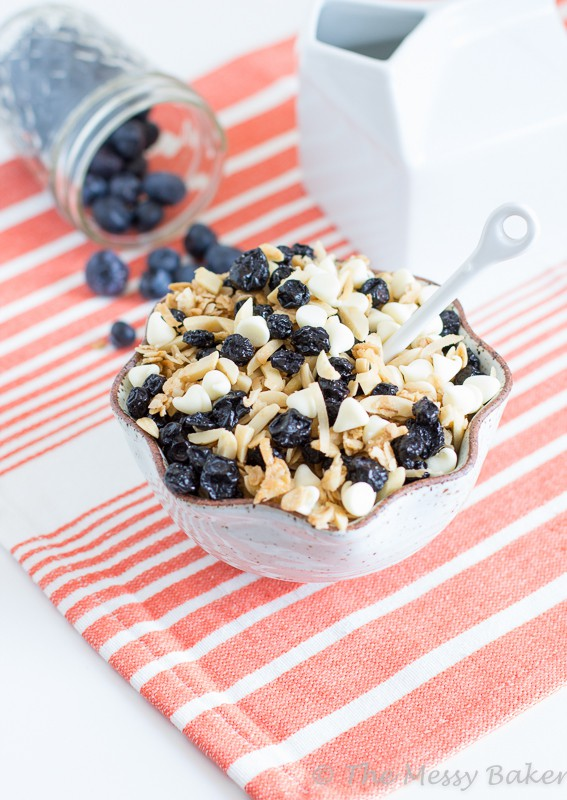Blueberries & Cream Granola | www.themessybakerblog.com-7992