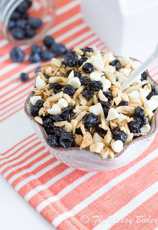 Blueberries & Cream Granola | www.themessybakerblog.com-7994