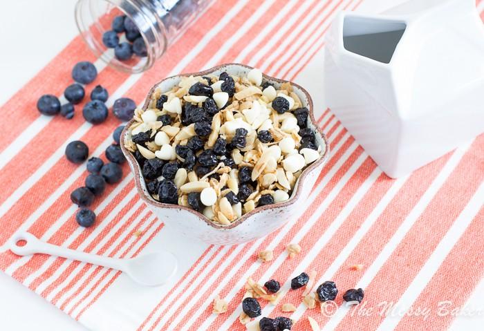 Blueberries & Cream Granola | www.themessybakerblog.com-8010