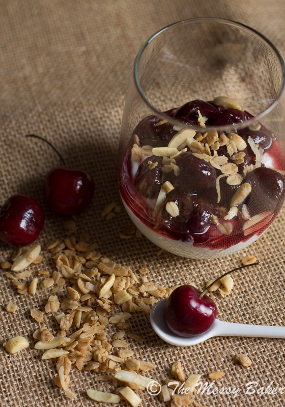 Cherry & Granola Parfaits | www.themessybakerblog.com-8054