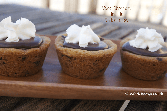 Dark Chocolate Truffle Cookie Cups