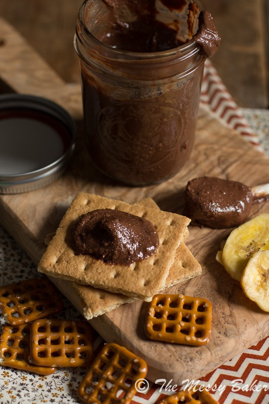 Homemade Dark Chocolate Peanut Butter | www.themessybakerblog.com-8325