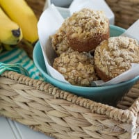 Banana Muffins with Walnut Streusel | www.themessybakerblog.com -8499