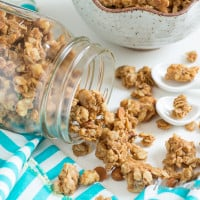 Cookie Butter Cinnamon Chip Granola | www.themessybakerblog.com