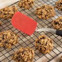 Skinny Chocolate Chip Zucchini Oat Cookies | www.themessybakerblog.com -8462