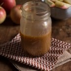 Apple Cider Bourbon Caramel Sauce | www.themessybakerblog.com -8616