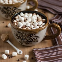 Milk Chocolate Peanut Butter Hot Chocolate | www.themessybakerblog.com -8637