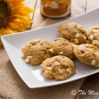 Pumpkin Cheesecake Cookies | www.themessybakerblog.com -8434