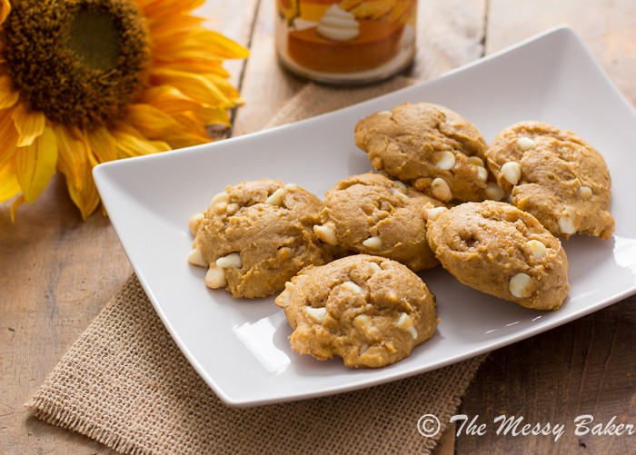 Pumpkin Cheesecake Cookies   www.themessybakerblog.com -8434