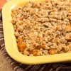 Pecan Streusel Topped Sweet Potato Casserole from themessybaker.com
