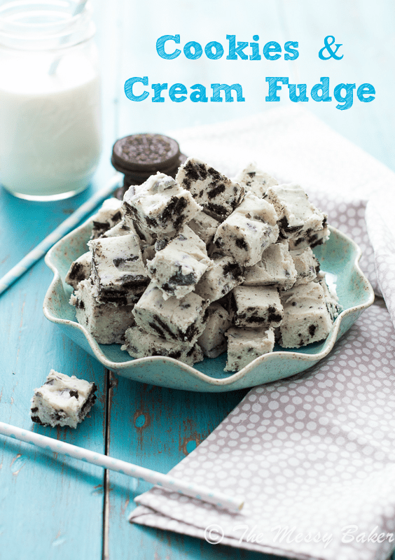 Cookies and Cream Fudge from www.themessybakerblog.com