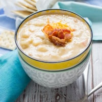 Loaded Potato Soup from www.themessybakerblog.com